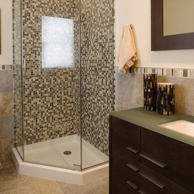 Sandstone Bathroom Glass Mosaic