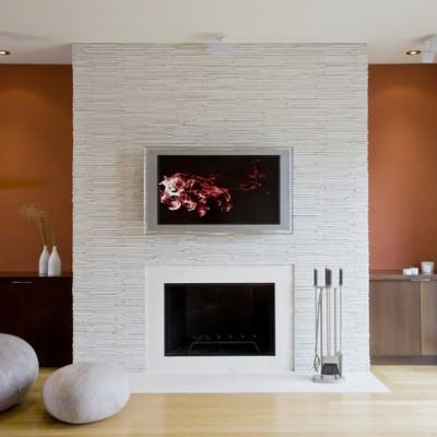 Santousi White Fireplace