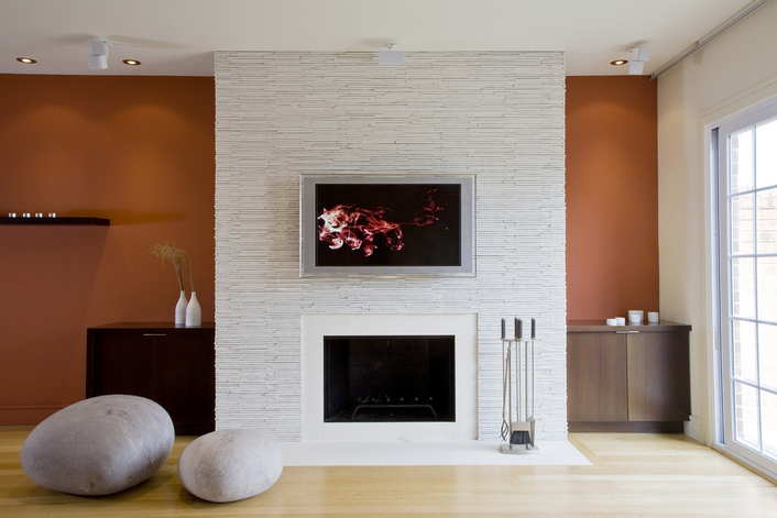 Santousi White Fireplace