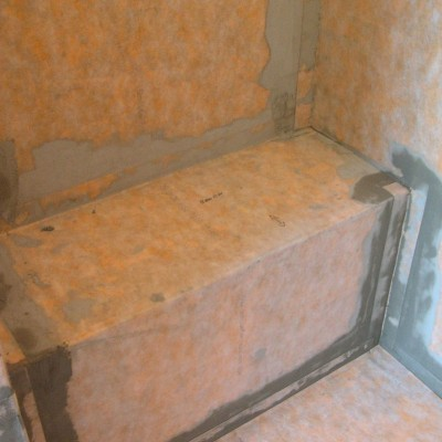 Kerdi Membrane Around Shower Bench