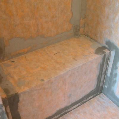 Kerdi Membrane Around Shower Bench