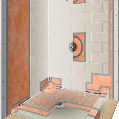 Schluter Shower Kit Installed