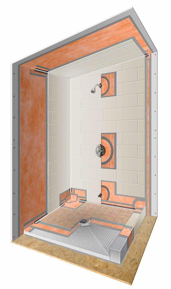 Kerdi Shower Kits Shower Systems Westside Tile And Stone