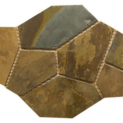 California Gold Slate Mesh Flagstone