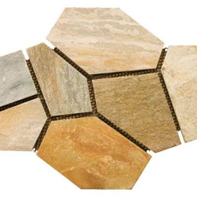 Golden Sand Slate Mesh Flagstone