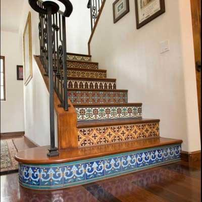 Talavera Tile Staircase