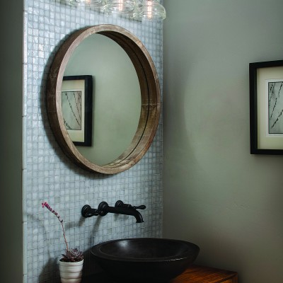 Tessera mosaic bathroom dove grey glass tile