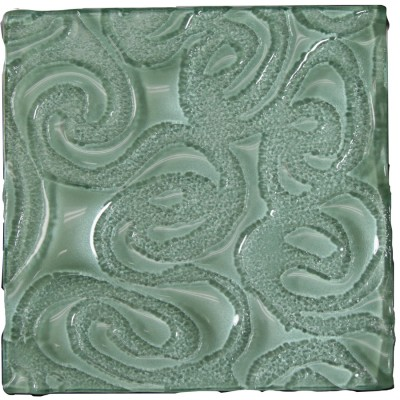 Tile Glass Squiggles