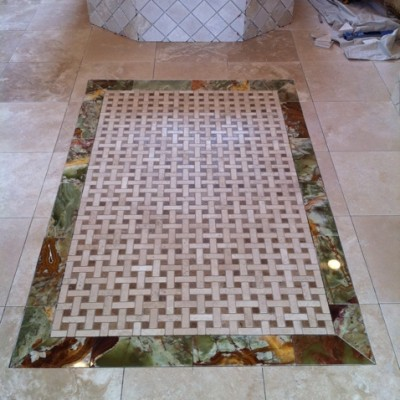 Travertine Mosaic Onyx