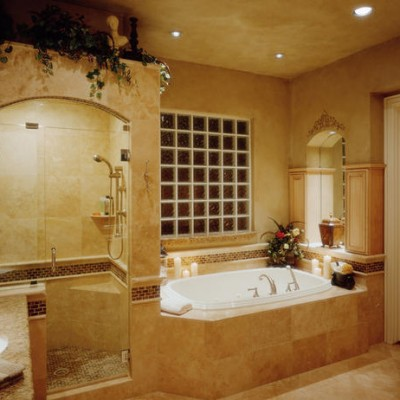 Travertine shower glass Tile borders