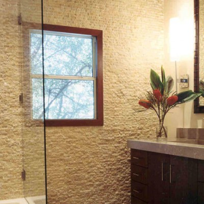 Travertine Splitface Wall