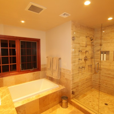 Travertine tile mosaics