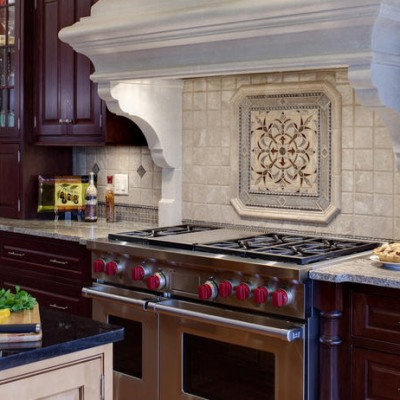 Tumbled Marble Backsplash Sonoma Mosaic