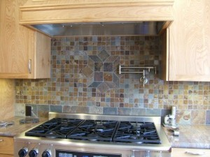 Tumbled Slate Backsplash