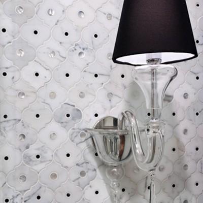 Artistic Tile Veneto Bianco Pattern Installation