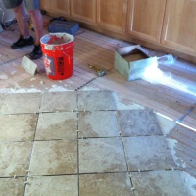 Warmwire Installation in Kitchen
