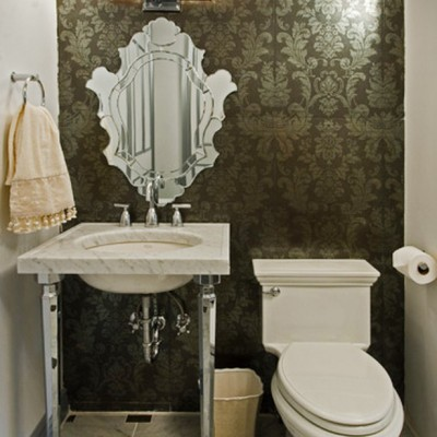 White Carrers Traditional Bathroom