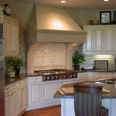 Beveled tile backsplash