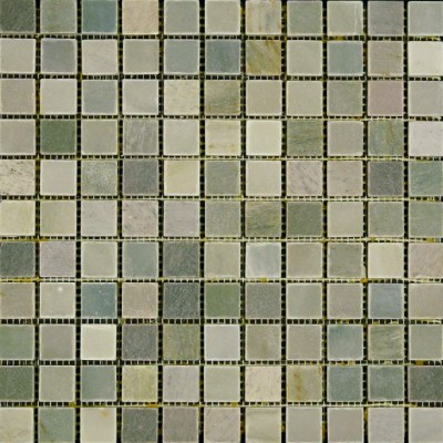 Moss Green Honed Buyi Mosaic