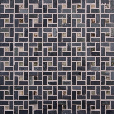 Black Gold & Hida Spiral Mosaic
