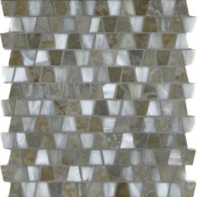 White Gold & Onyx Silk Wings Mosaic