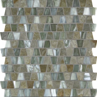 White Gold & Silvermoon Silk Wings Mosaic