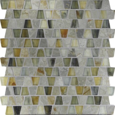 White Gold & Xenon Silk Wings Mosaic