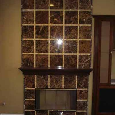 Emperador dark with onyx mosaic