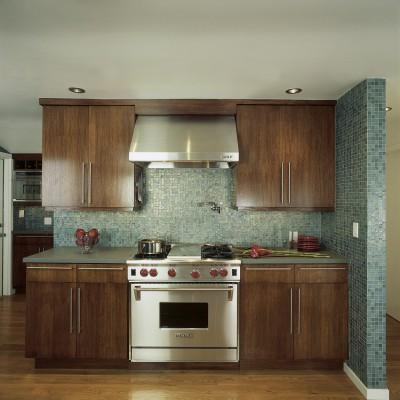 Tessera Spruce Iridescent Kitchen Backsplash