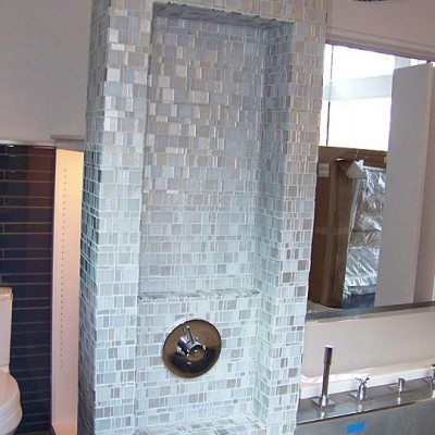Glass tile design shower