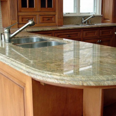 granite countertop frosted glass backsplash