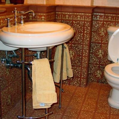Handmade mosaic bathroom
