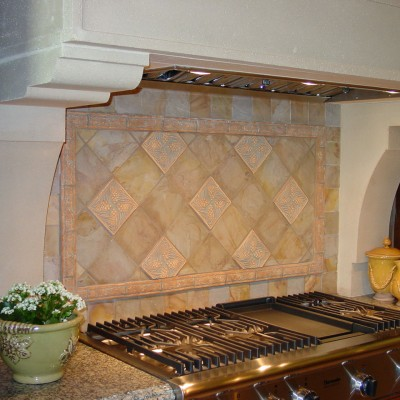 Handmade tile backsplash