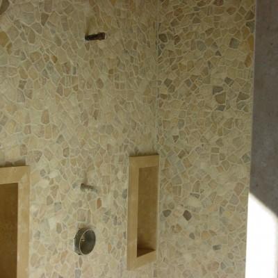 Island stone shower