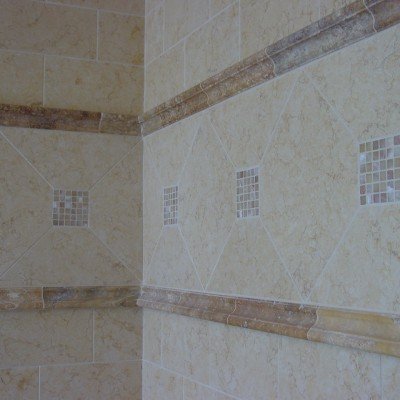 Jerusalem gold with onyx inserts shower