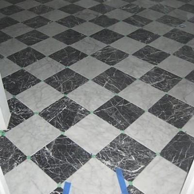 Marble design floor