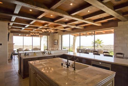 Mediterranean Kitchen by Ventura Doors Riviera Bronze Mfg.