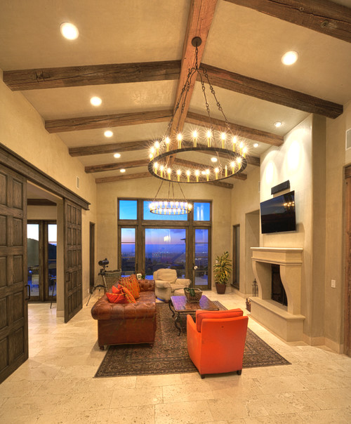Mediterranean Living Room by Carmel Tile, Stone & Countertops Carmel Stone Imports