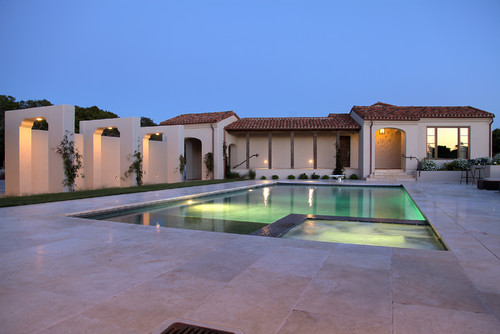 Mediterranean Pool by Carmel Tile, Stone & Countertops Carmel Stone Imports