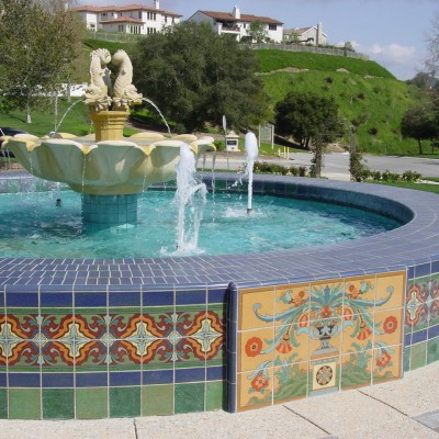 mexican talavera fountain