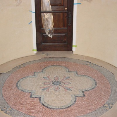 Mosaic medallion floor