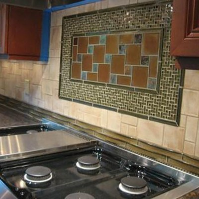 Oceanside glass backsplash