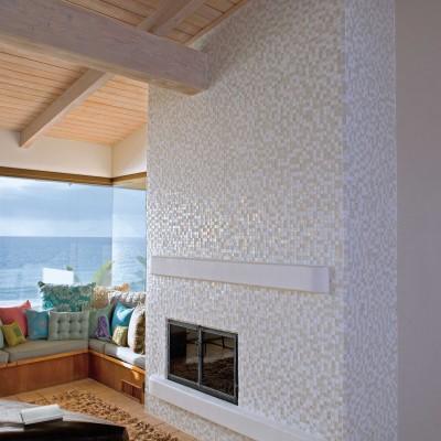Oceanside glass fireplace