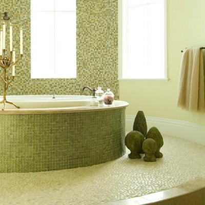Oceanside glass mosaic bathtub