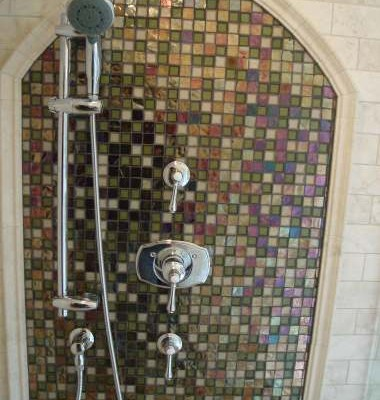 Oceanside glass shower