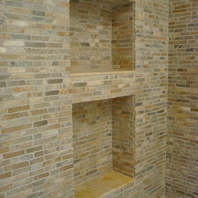 Onyx mosaic shower