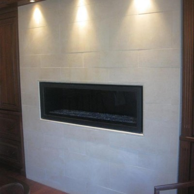 Porcelain til fireplace