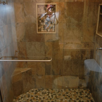 Porcelain tile riverstone rock