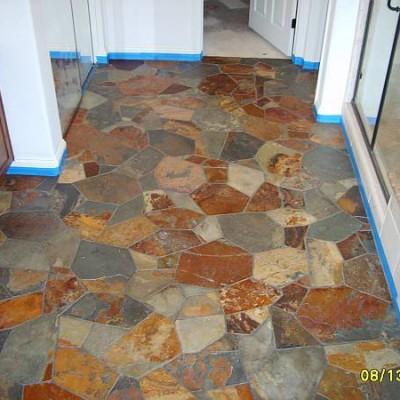 Slate flagstone floor