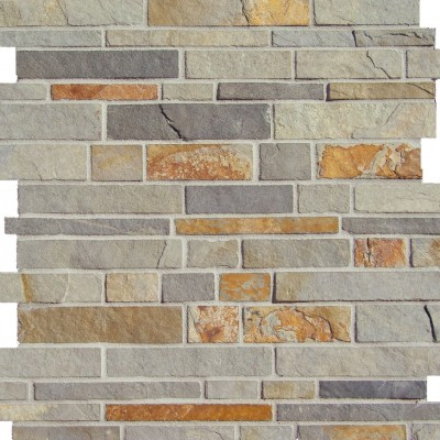 White Gold Falling Water Mosaic